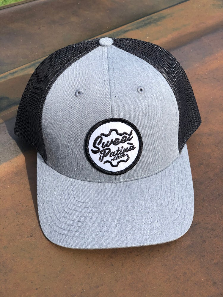Image of Heathered Gray/ charcoal Gear Patch Hat