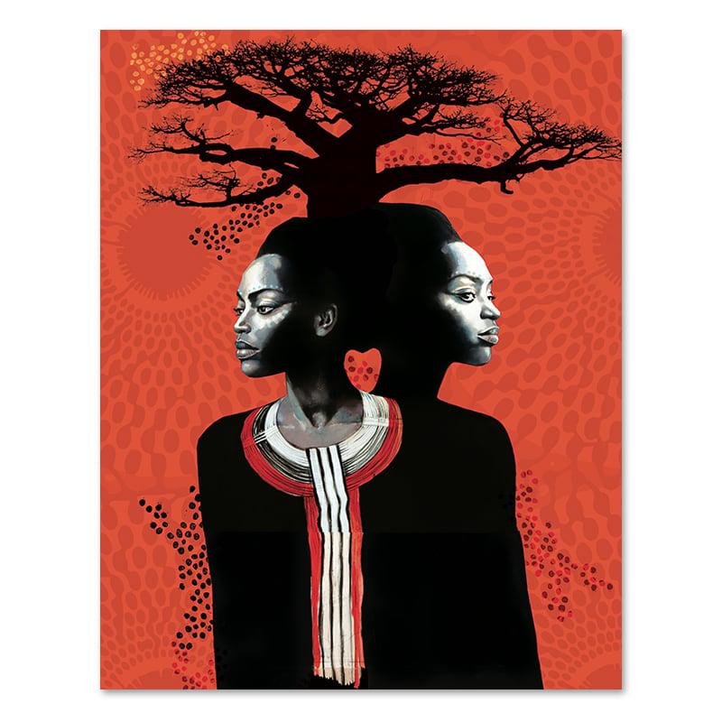 "Image of Paper Art Print - ""Racines"""