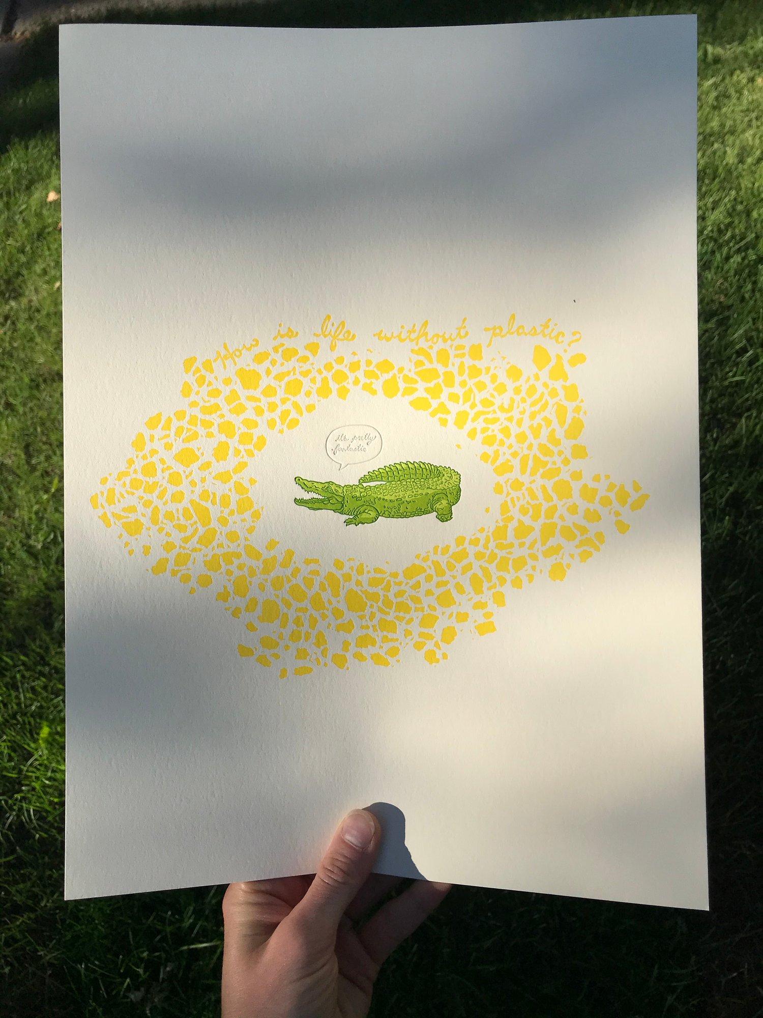 "Image of ""It's Pretty Fantastic"" letterpress print"