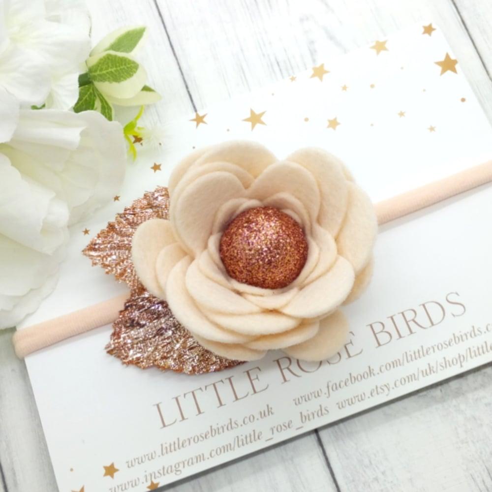 Image of Rose Gold Flower Bloom