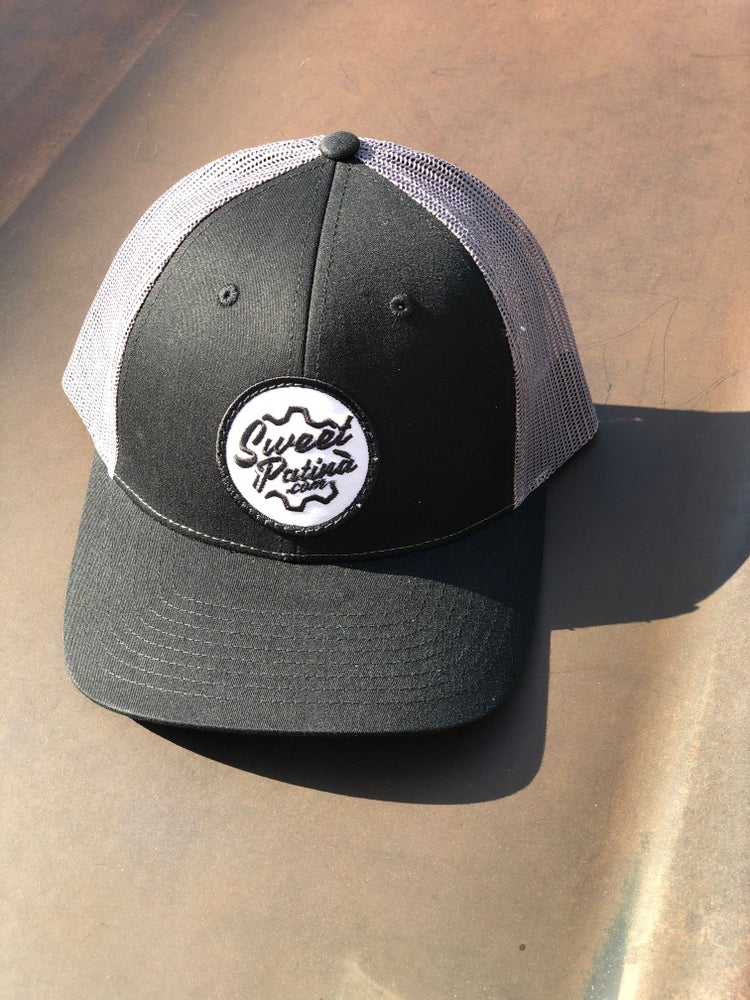 Image of Black/ Charcoal Gear Patch Hat