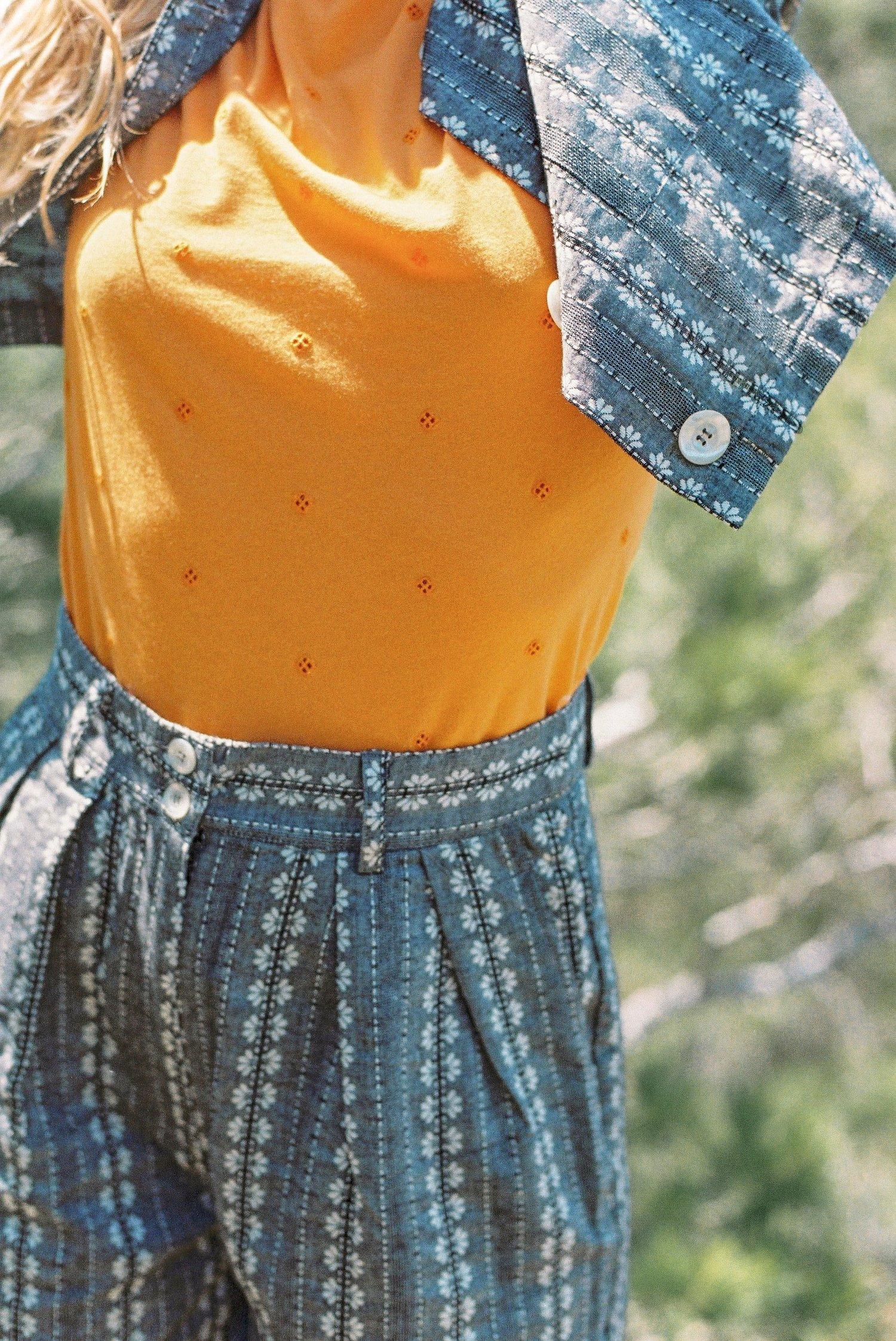 Image of Tee-shirt jersey brodé PRUNETTE