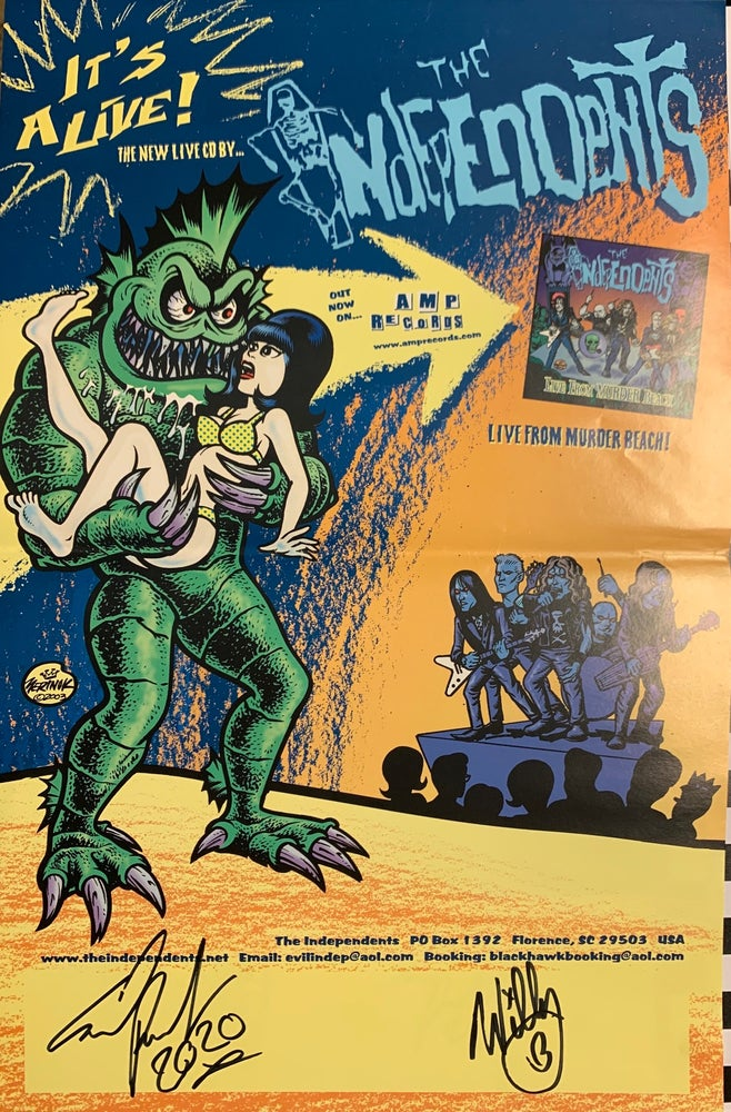 Image of Limited edition Autographed Live From Murder Beach promo poster