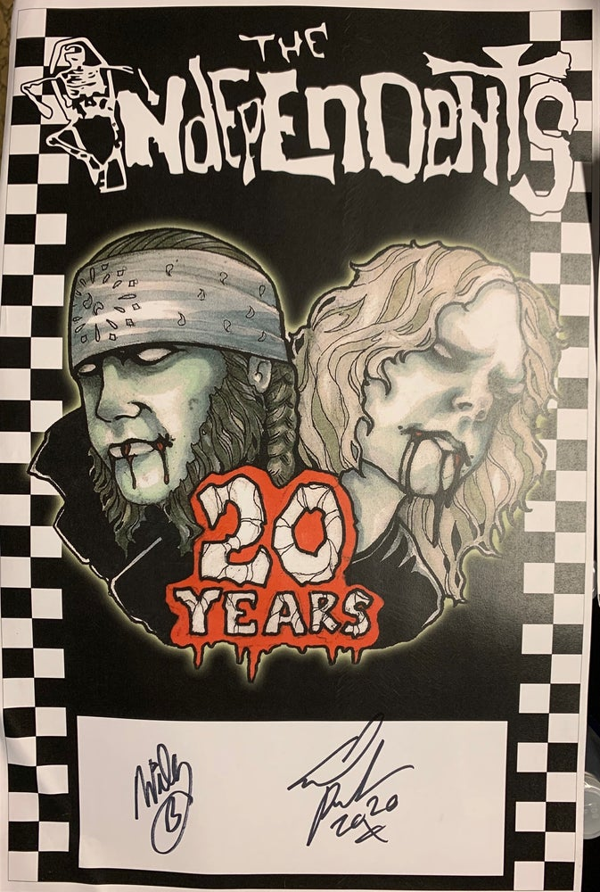 Image of Limited Edition Autographed 20th Anniversary Poster