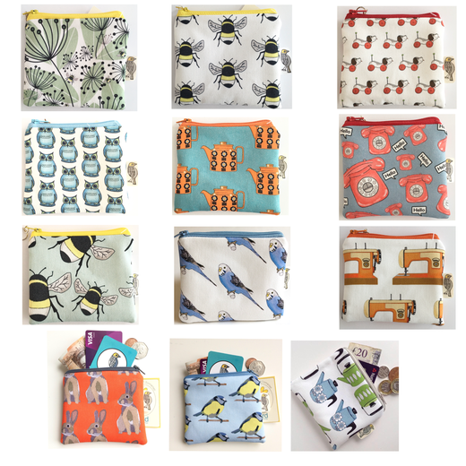 Bird Modern Vintage -Coin Purses Multi Image Collection