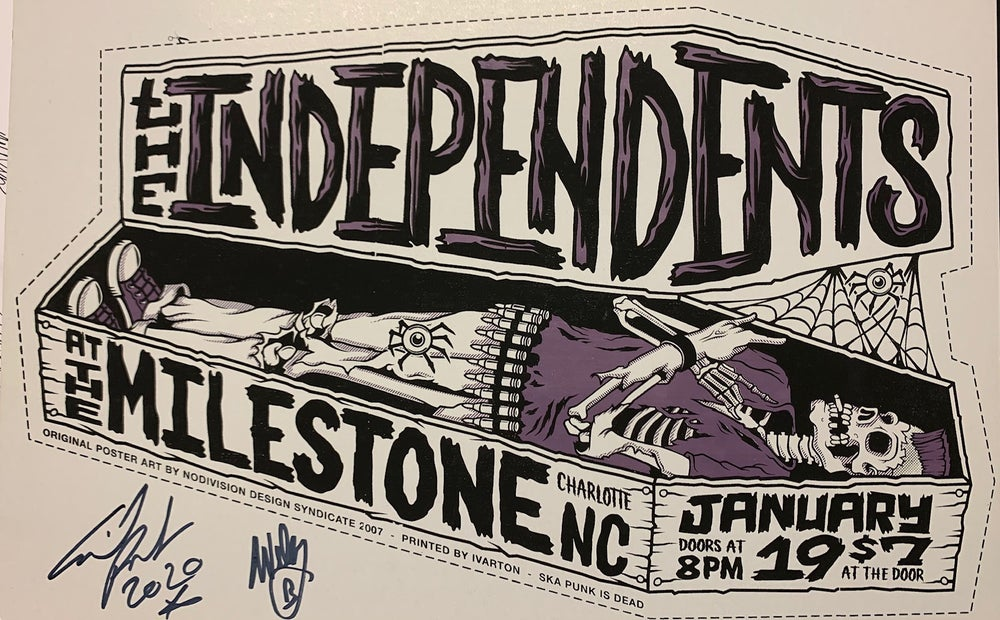 Image of Limited Edition Autographed Screen Printed  Milestone show poster