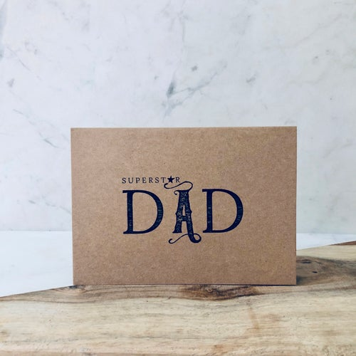 Image of Superstar Dad Greetings Card