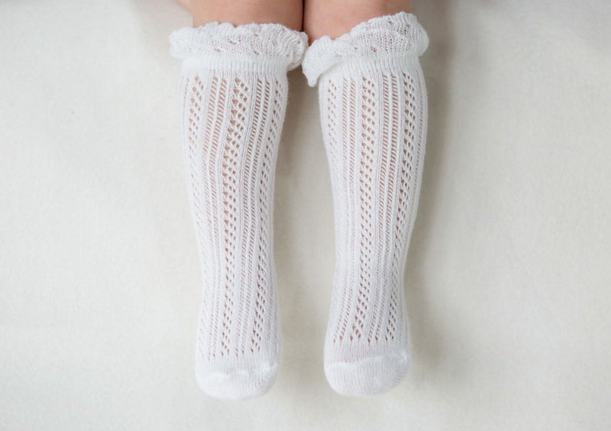 Image of Double Ray Baby Knee Socks