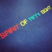 Image of Spirit of Fifty Eight Embroidered Sweatshirt Navy (unisex)