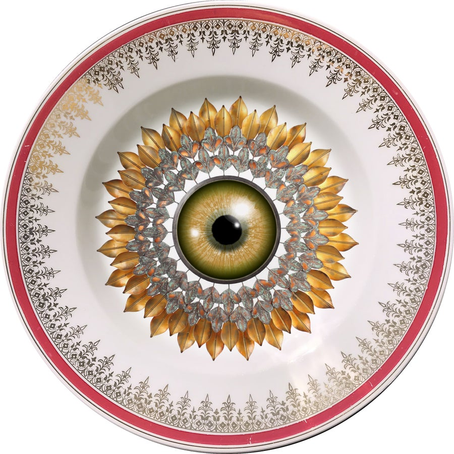 Image of Sunflower - Vintage Porcelain Plate - #0648