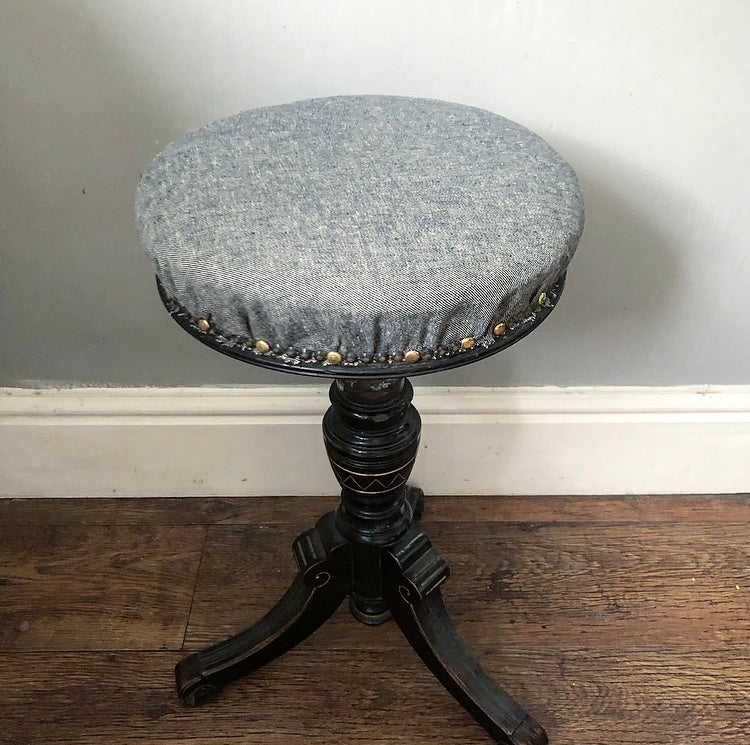 Antique circular stool