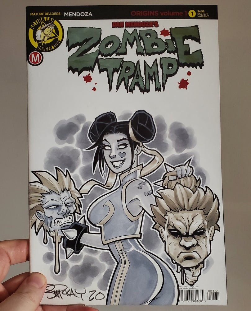 Image of Zombie Tramp as Chun Li Copic Marker Sketch