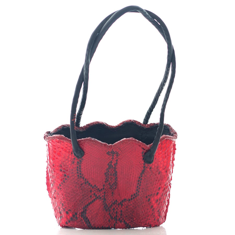 Image of Ipele bag - red python skin