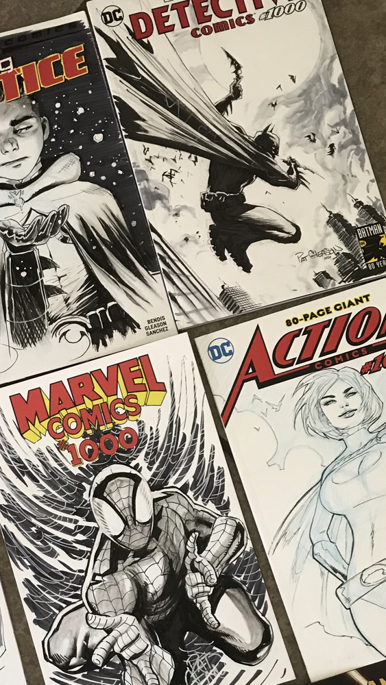 Image of Sketch Cover- Full Figure + Backgrounds