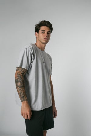 Image of LIGHT GREY WASHED TEE