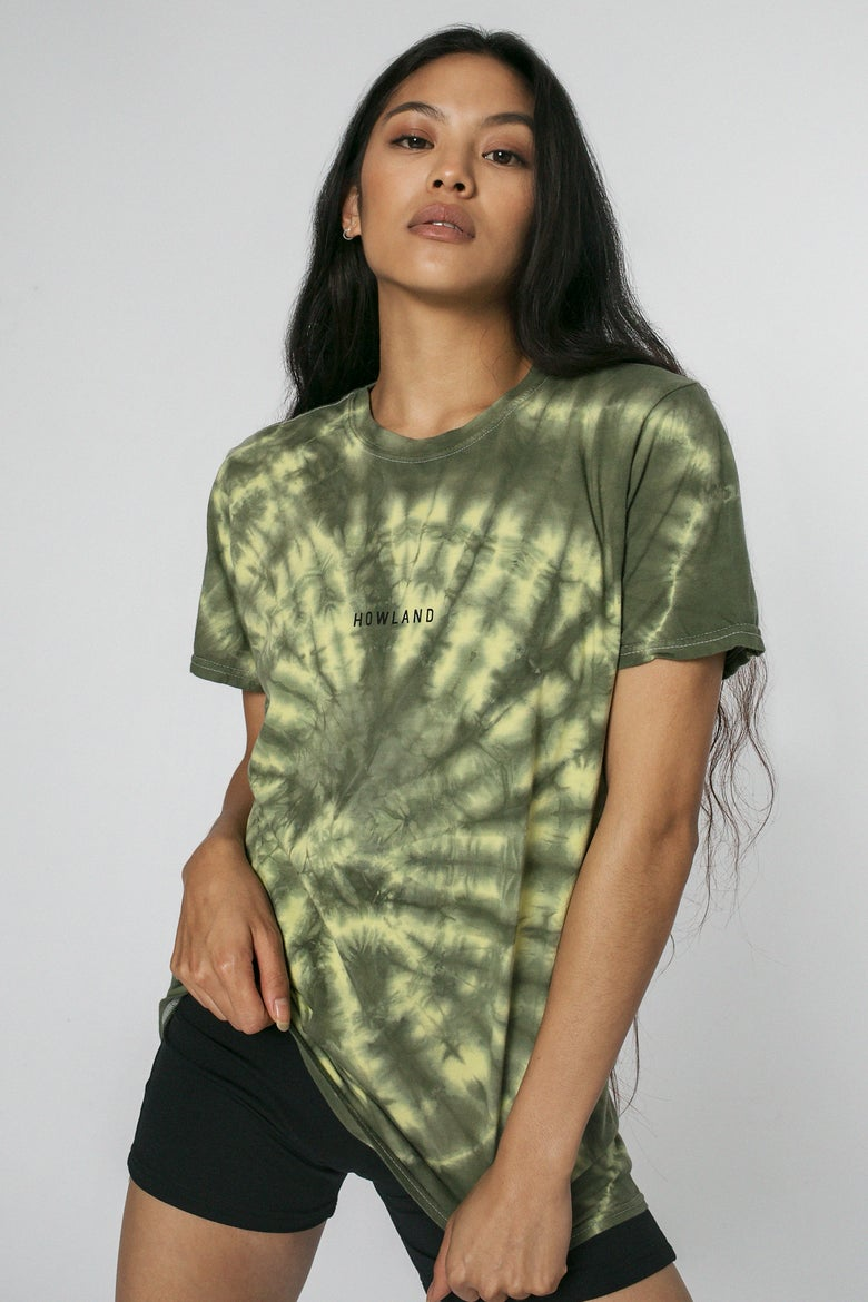 Image of GREEN TIE DYE T-SHIRT G.