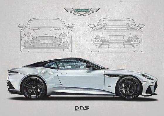 Image of Aston Martin DBS Superleggera Poster Print