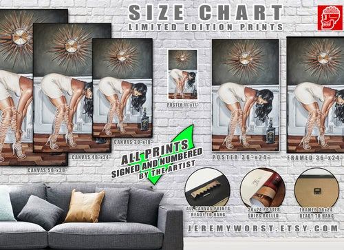 Image of JEREMY WORST Corona Time Acrylic Artwork Modern wall Home decor
