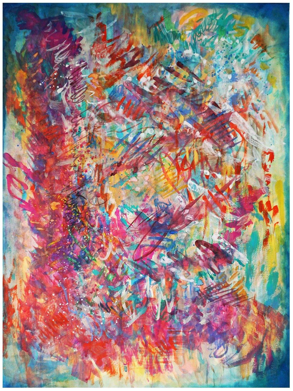 """Sonic Interruption"" - Original Watercolor Painting"