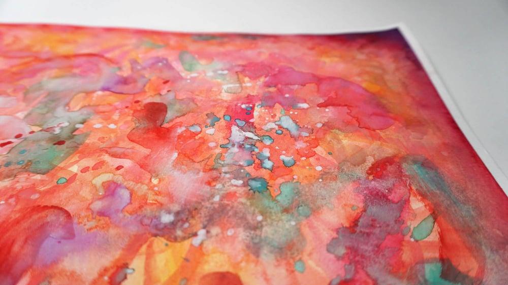 """""""Rosy Splash"""" - Original Watercolor Painting"""