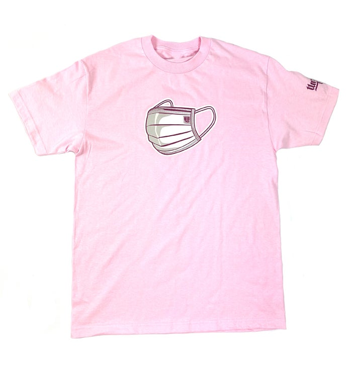 Image of UNCERTAIN TIMES CHARITY TEE - PINK