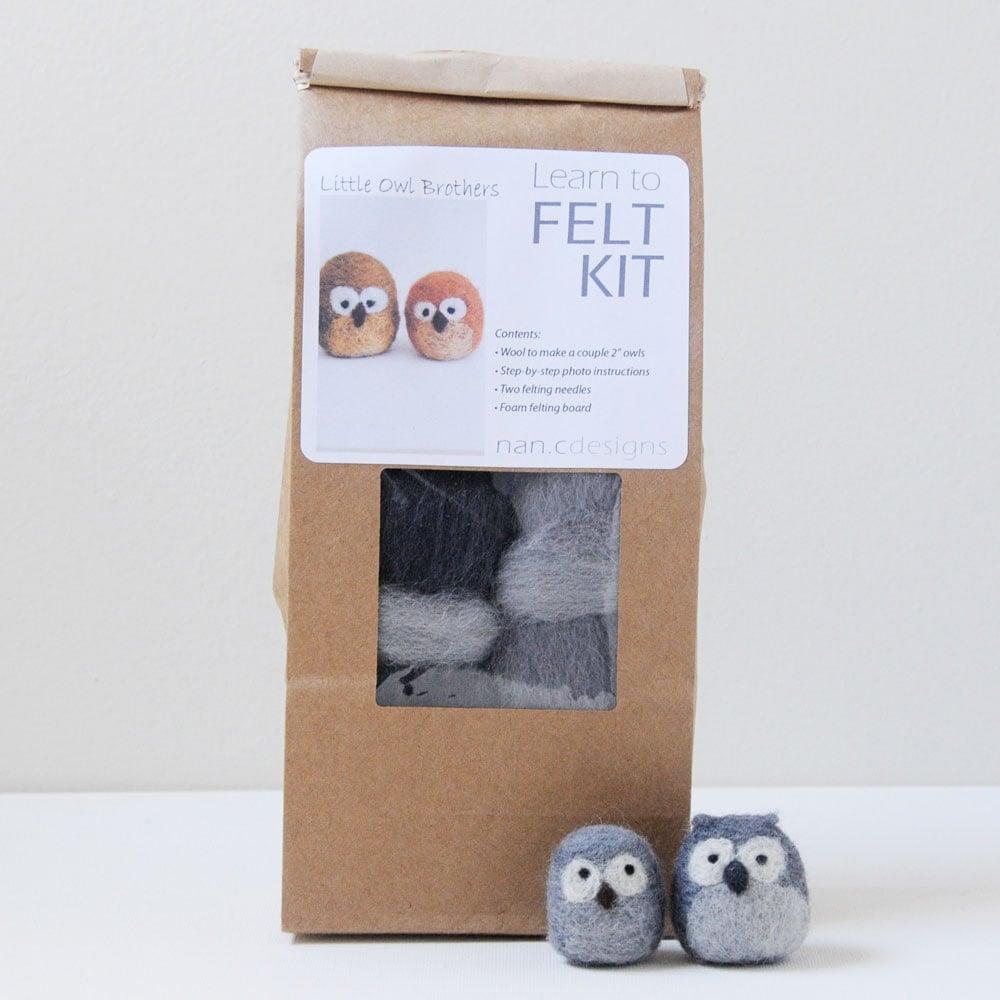 Little Owl Brothers - Needle Felting Kit