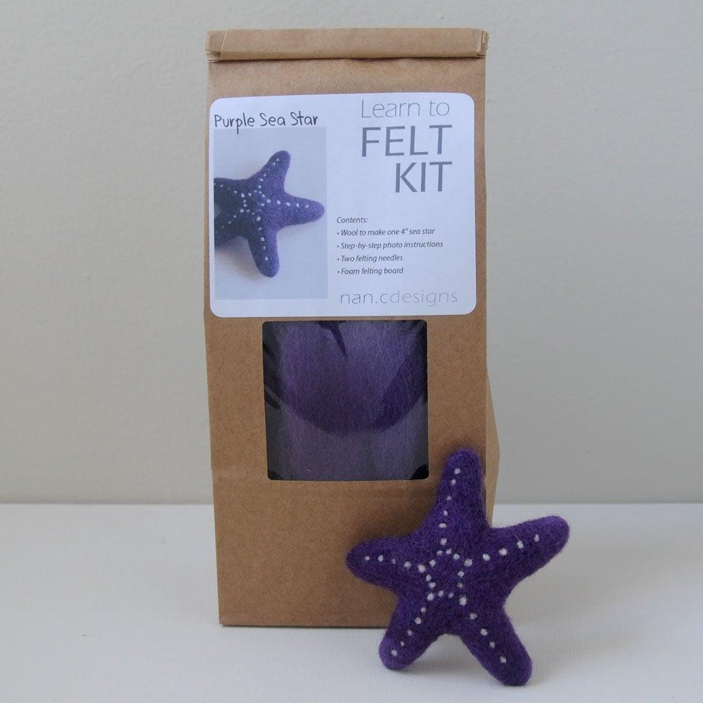 Purple Sea Star - Needle Felting Kit