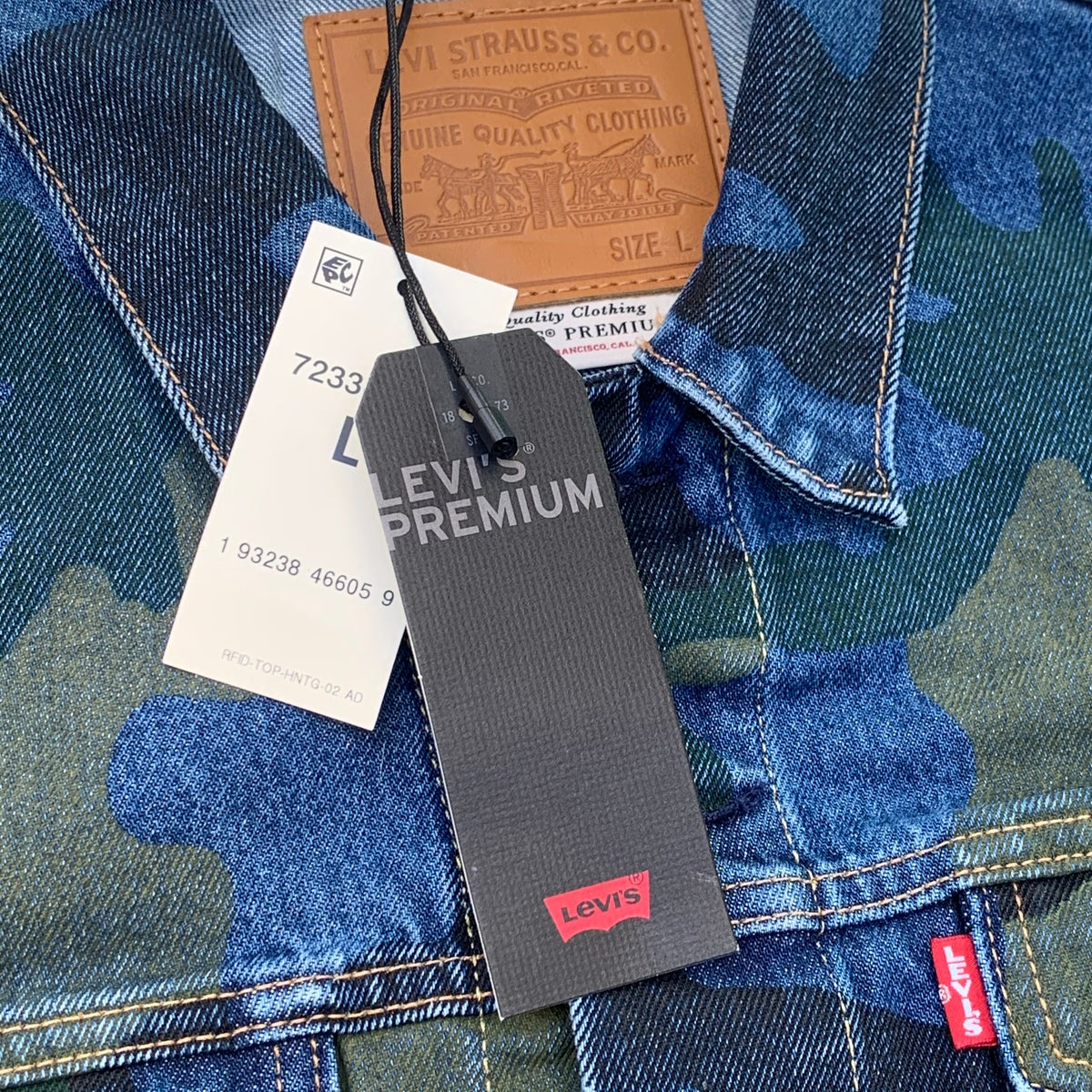 NEW Custom Ice Cream Bear Embroidered Premium NEW Camo Levi's Jacket!!