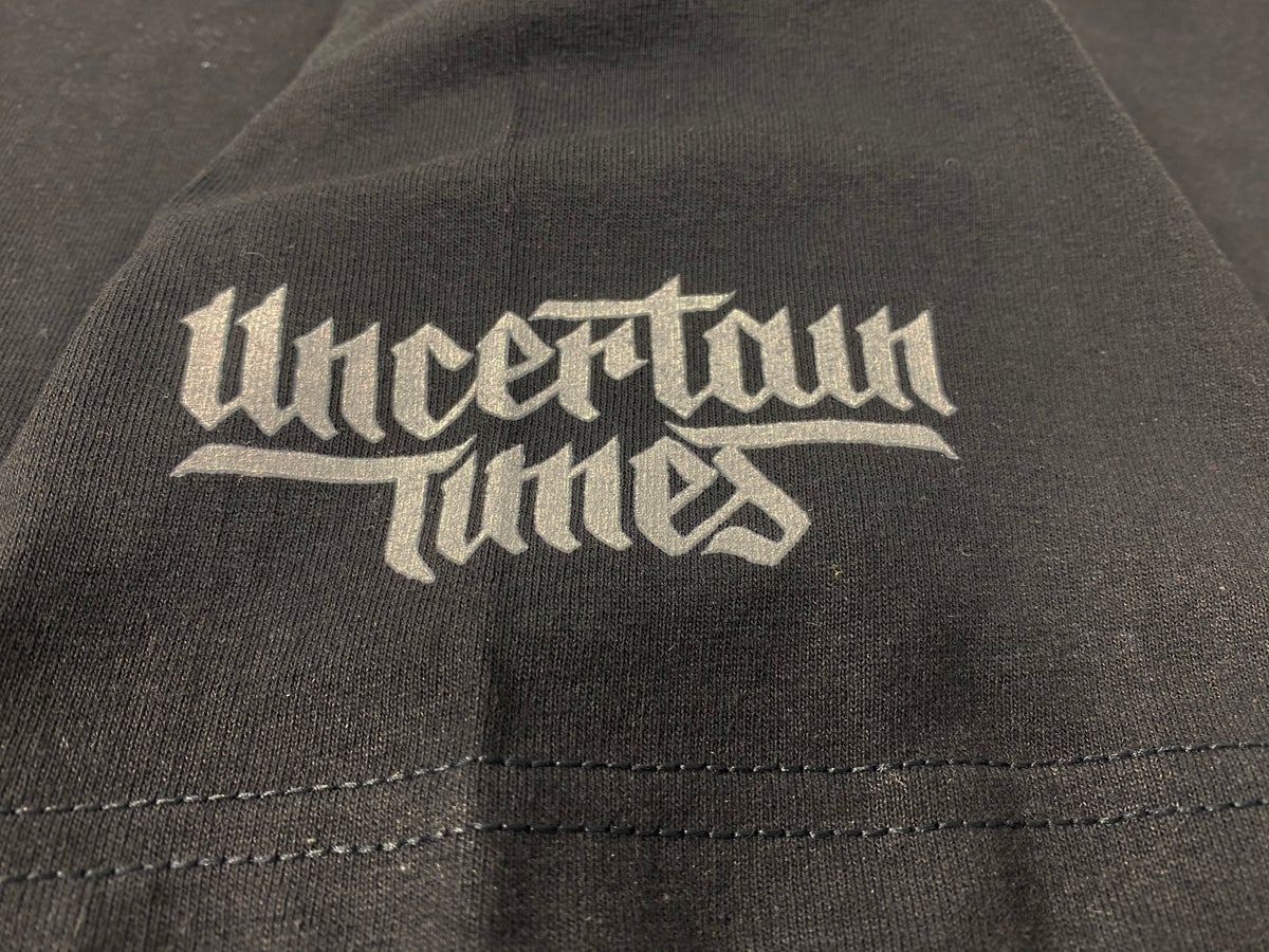 Image of UNCERTAIN TIMES CHARITY TEE - BLACK