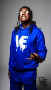 Men's Nipsey Blue VE Logo Hoodie Short Set
