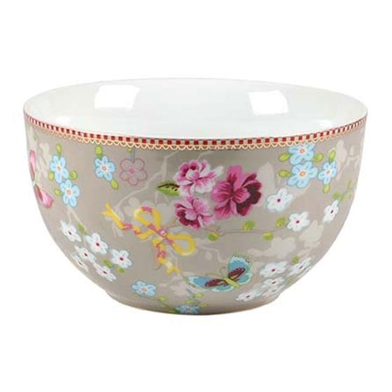 Image of PiP Studio Chinese Rose Salad Bowl ~ Khaki