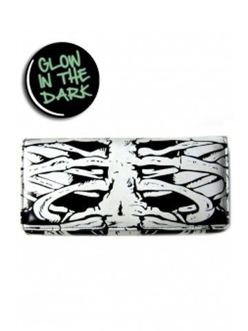 Image of BANNED APPAREL GLOW IN THE DARK SKELETON WALLET