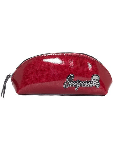 Image of SOURPUSS SUPER FLOOZY MAKE-UP BAG Red