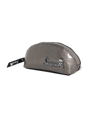 Image of SOURPUSS SUPER FLOOZY MAKE-UP BAG Gun Metal