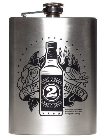 Image of KUSTOM KREEPS DRINK FLASK Rum to Whiskey