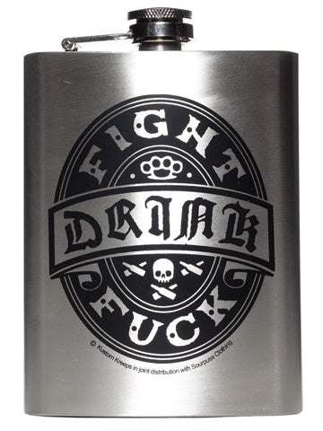 Image of KUSTOM KREEPS DRINK FLASK Fight Drink F**k