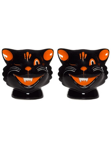 Image of SOURPUSS CATS SALT & PEPPER SHAKERS