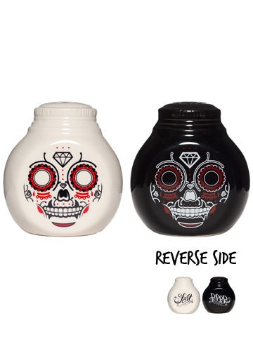Image of SOURPUSS SUGAR SKULL SALT & PEPPER SHAKERS