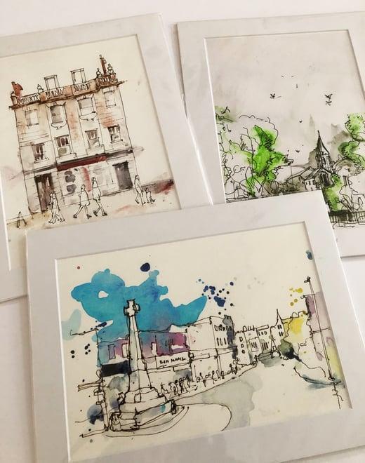 Neil Whitehead Artist -Taunton Urban Sketching Prints