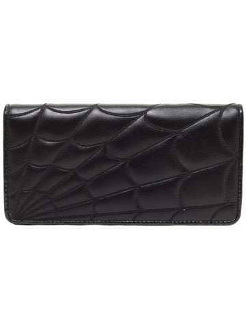 Image of SOURPUSS Spiderweb Wallet BLACK