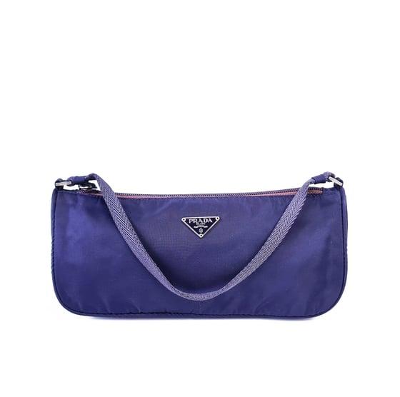 Image of Prada Tessuto Purple Shoulder Bag MV633