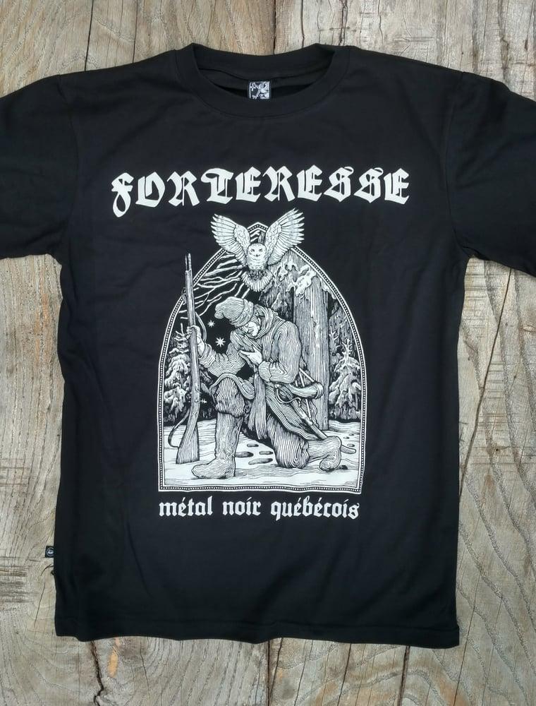 """Image of FORTERESSE """"Metal Noir Quebecois' T-SHIRT"""