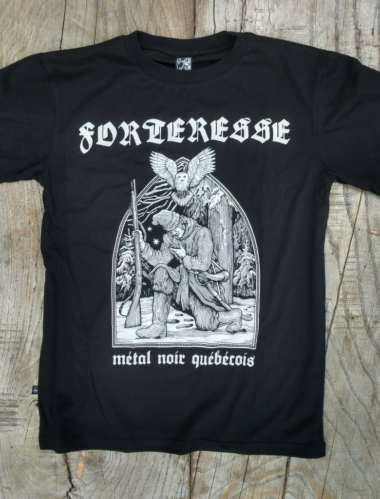 "Image of FORTERESSE ""Metal Noir Quebecois' T-SHIRT"