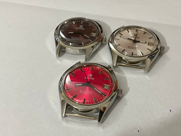 Image of LOT OF 3 X STUNNING Roamer Manual Wind Gents/Mens WATCHES,Mint (RM-5)