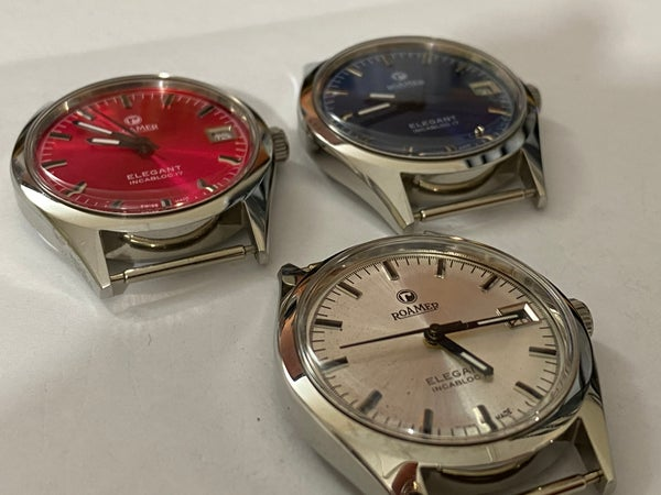 Image of LOT OF 3 X STUNNING Roamer Manual Wind Gents/Mens WATCHES,Mint (RM-7)
