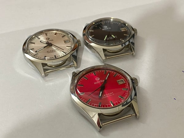 Image of LOT OF 3 X STUNNING Roamer Manual Wind Gents/Mens WATCHES,Mint (RM-8)
