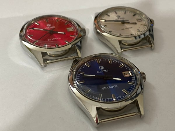 Image of LOT OF 3 X STUNNING Roamer Manual Wind Gents/Mens WATCHES,Mint (RM-9)