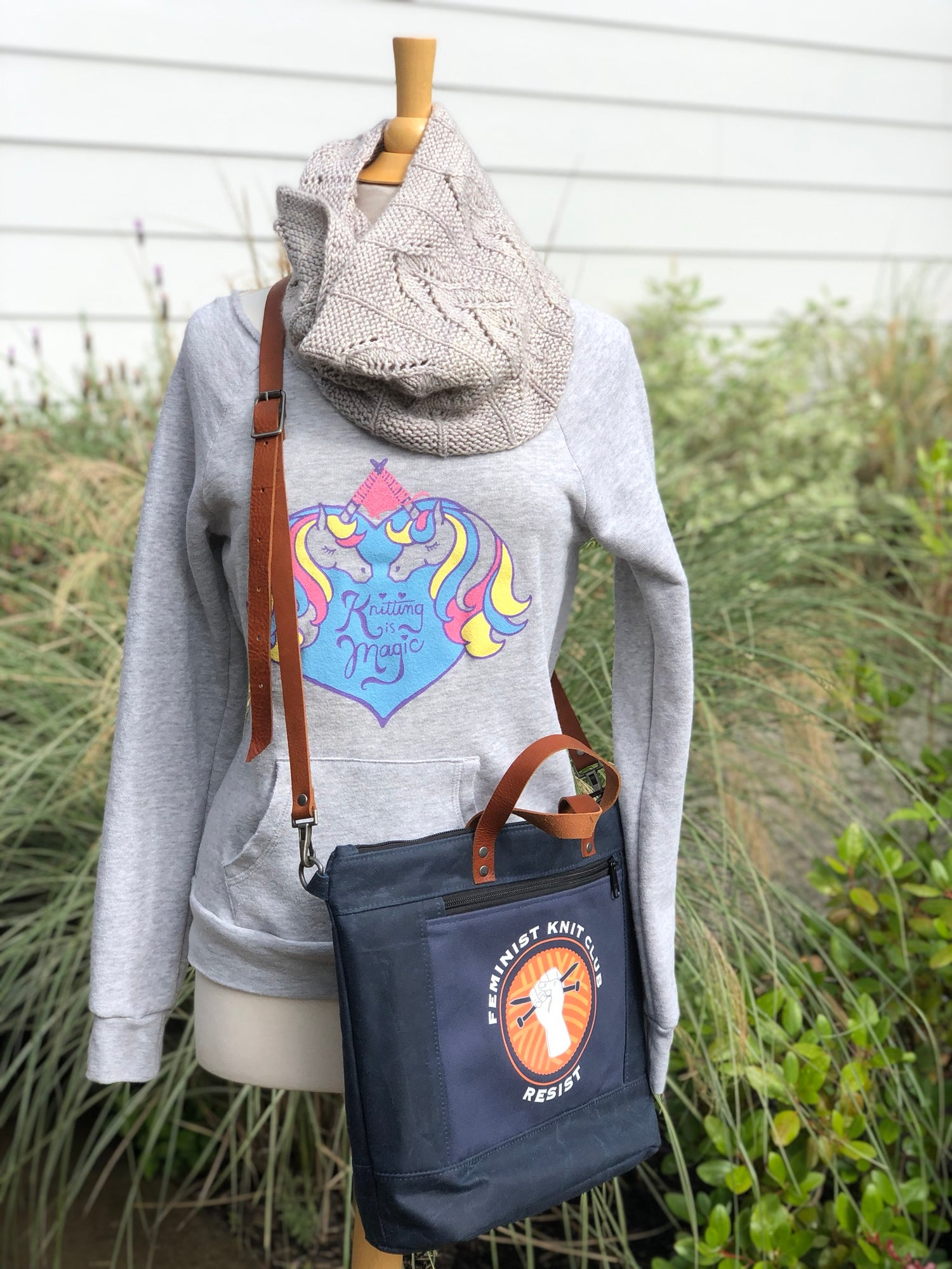 Image of Feminist Knit Club Convertible Bag