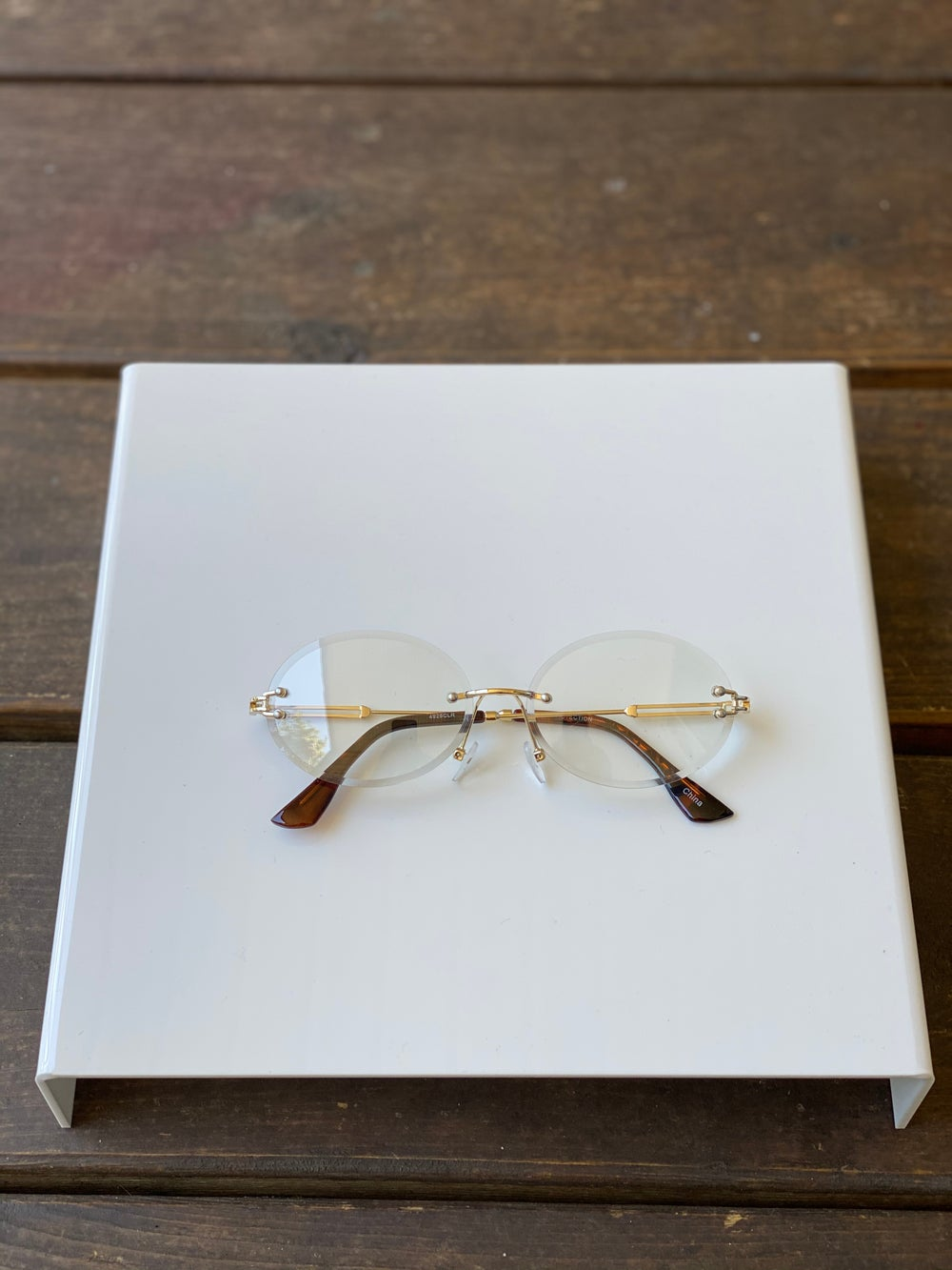 Men's Clear Oval Frames
