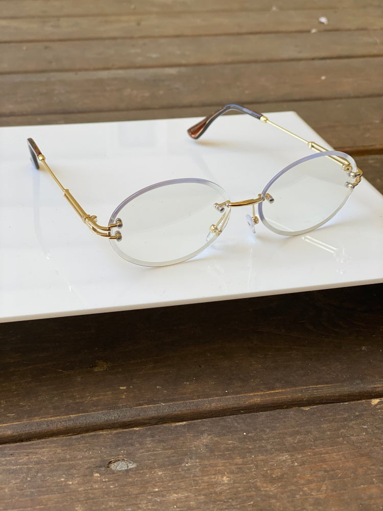 Image of Men's Clear Oval Frames